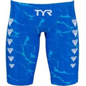 ティア(TYR) メンズ ライトニング ローライズ ロングボクサー ブルー JLIGT-19M BL 【練習用 男性用競泳水着 トレーニング スイムウェ