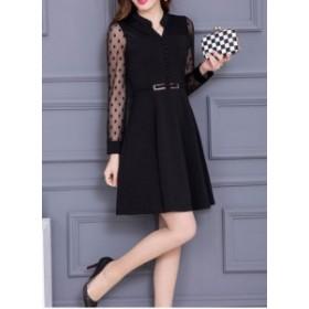 ワンピース レディース 結婚式 パーティードレス ドレス 大きいサイズ 赤 黒 韓国 ファッション