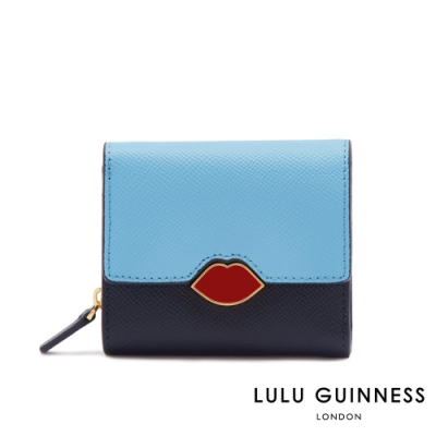 LULU GUINNESS Eliza 大型 口紅唇鎖滑面皮手提斜背托特包(茄紫色) 1840378-83