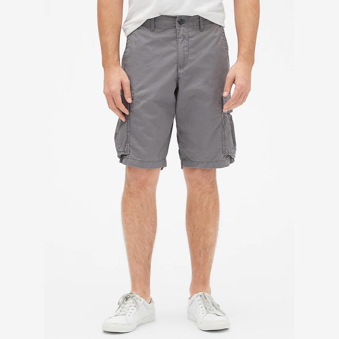 GAP - 444471 Cargo Shorts in Twill 重磅水洗 多口袋 短褲 (淺灰) 化學原宿