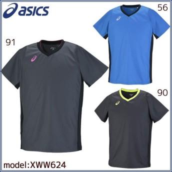 アシックス 半袖ウォームアップシャツ バレーボールウェア バレーボール 練習着 XWW624