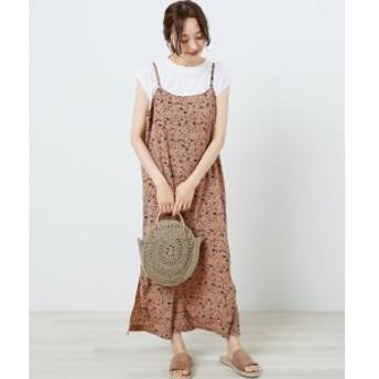 レイカズン(RAY CASSIN)/レオパード小花キャミワンピース×プチハイフレンチTシャツセット