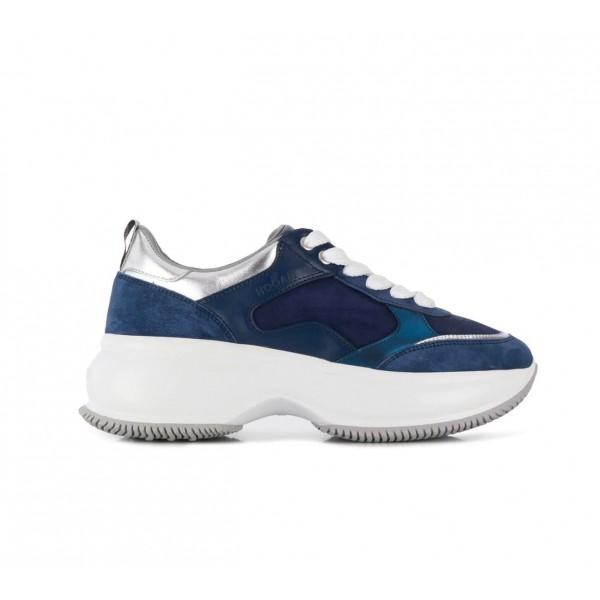 Hogan Maxi I Active 女款 老爹球鞋 藍色銀邊細節 IT 35/35.5/36/36.5/37/37.