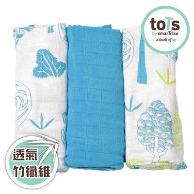 ✿蟲寶寶✿【英國Tots】 竹纖維 輕薄透氣 柔軟萬用巾/包巾 水藍 三色可選 《現貨》