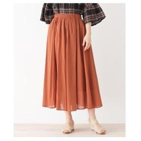 3can4on(Ladies)(サンカンシオン(レディース))ボイルカラーギャザースカート