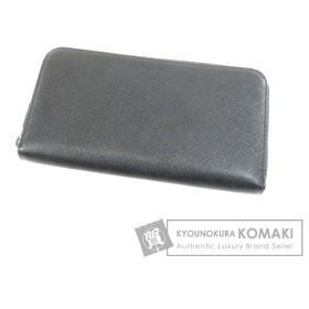 プラダ PRADA  サフィアーノ ラウンドファスナー  長財布(小銭入れあり) レザー 中古