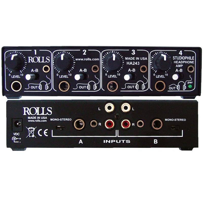 美國ROLLS HA243四軌 A/B訊號耳機分配放大器 - Made in USA (含稅保固)【音響世界】
