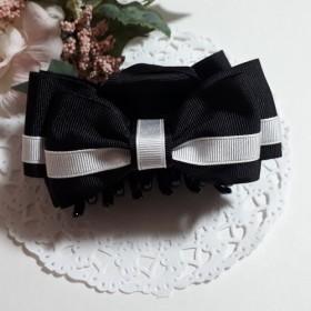 白黒はっきりなバンスクリップ(黒&白)