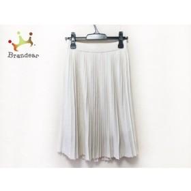 アマカ AMACA スカート サイズ38 M レディース 美品 白 プリーツ 新着 20190712