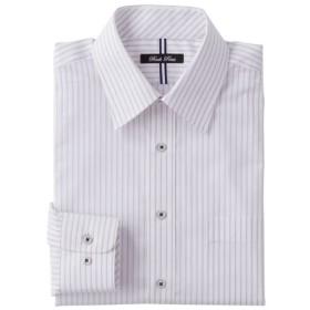 【メンズ】 形態安定デザインYシャツ(ベーシックシルエット)(長袖) - セシール ■カラー:パープル系 ■サイズ:45(裄丈86)