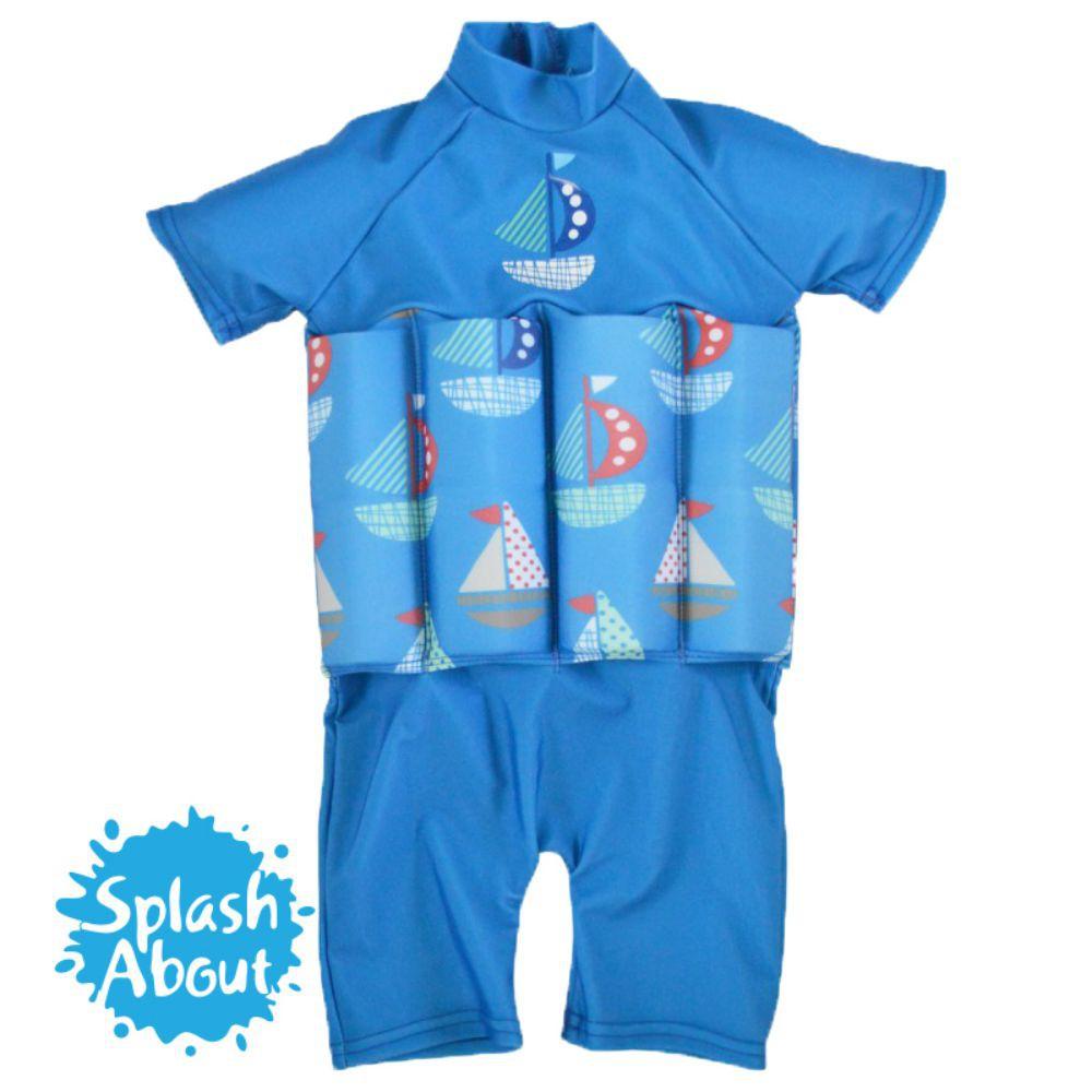 潑寶 UV FloatSuit 兒童防曬浮力泳衣 - 普普風帆船