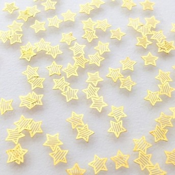 小さなしましま星 100個 スター レジン封入材ゴールド102UV719