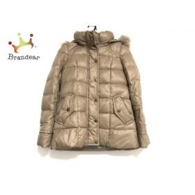 バーバリーブルーレーベル ダウンジャケット サイズ38 M レディース 美品 ベージュ 冬物 新着 20190712
