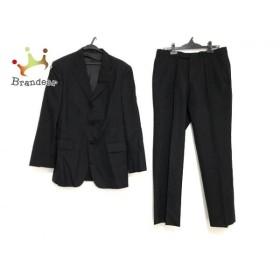 バーバリーブラックレーベル シングルスーツ サイズ40L メンズ ストライプ/ネーム刺繍   スペシャル特価 20190829