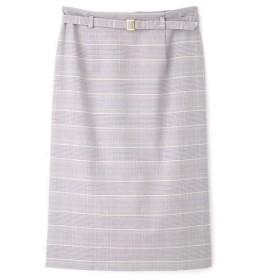 NATURAL BEAUTY BASIC / ナチュラルビューティーベーシック [洗える]杢チェックストレートスカート