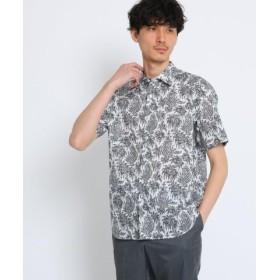 (TAKEO KIKUCHI/タケオキクチ)トロピックペイズリー半袖シャツ Fabric by Liberty(R)/メンズ ホワイト(101)