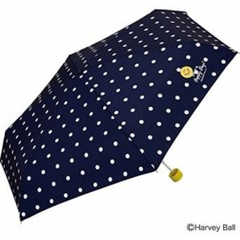 ワールドパーティー(Wpc.) 雨傘 折りたたみ傘 ネイビー 53cm レディース スマイリーフェイス ミ