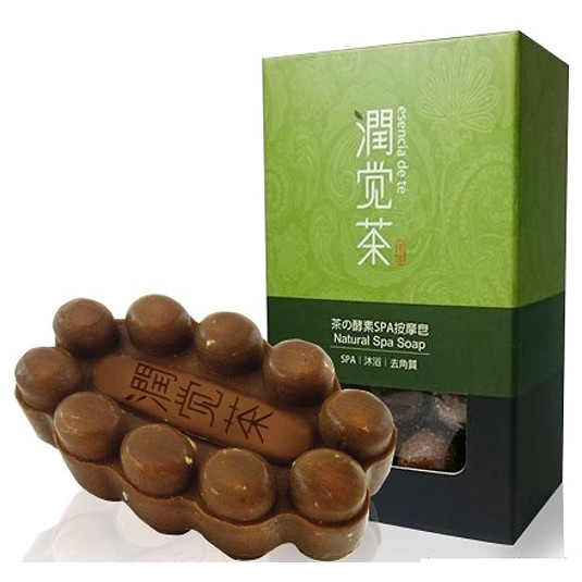 茶寶-茶酵素SPA去角質舒緩按摩皂(100g)
