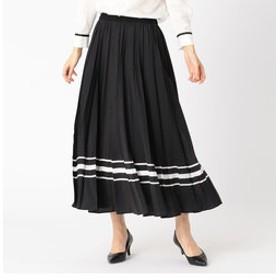【COMME CA:スカート】パネルプリントプリーツスカート