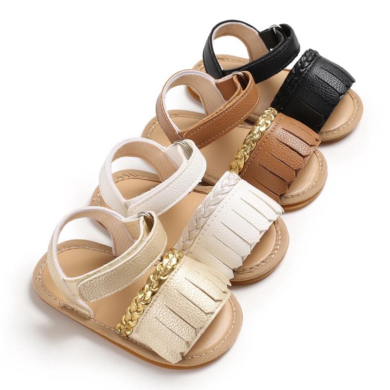 夏季0-1歲女寶寶涼鞋膠底防滑嬰兒學步鞋