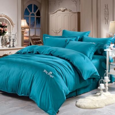 Lily Royal 60支頂級天絲銀纖維 四件式兩用被床包組 雙人 蔚藍