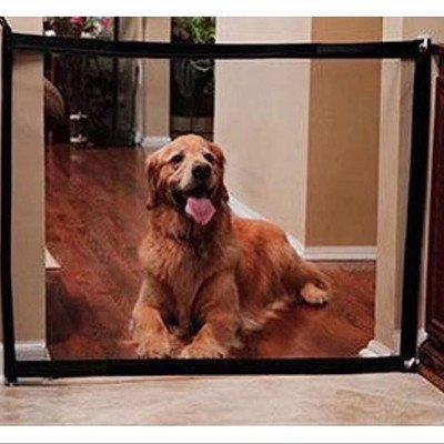 【大號180x72CM】寵物防護網 狗狗客廳阻隔網Magic Gateon tv可擕式寵物貓狗隔離網