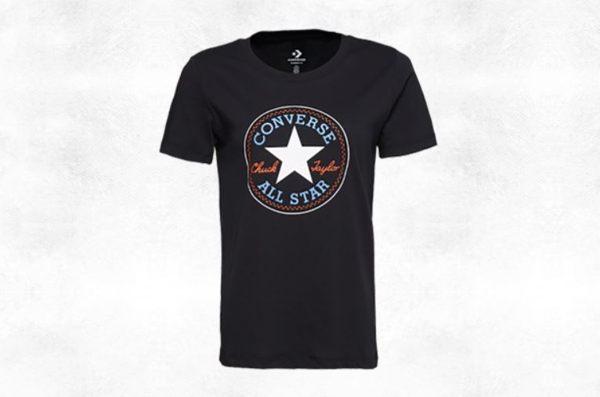 CONVERSE-CHUCK PATCH NOVA TEE 女款黑色短袖上衣-NO.10017759-A03