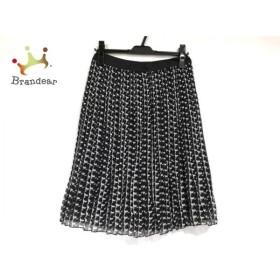 ジユウク スカート サイズ36 S レディース 美品 黒×アイボリー×ダークグレー プリーツ   スペシャル特価 20191012