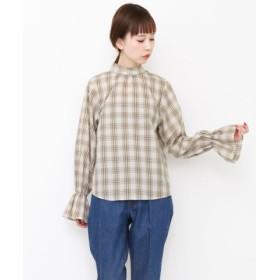 (URBAN RESEARCH OUTLET/アーバンリサーチ アウトレット)【KBF】スタンドネックチェックシャツ/レディース ベージュ