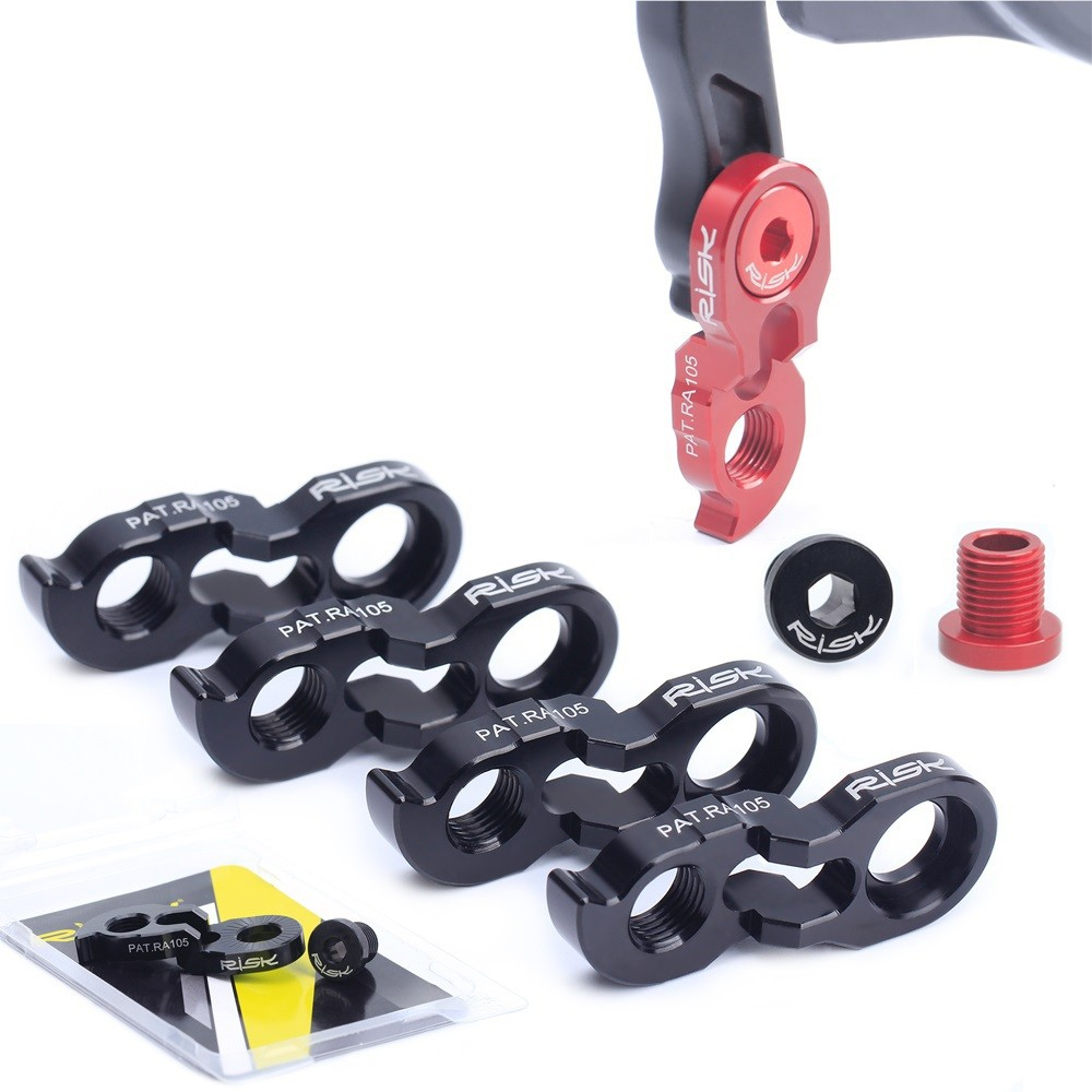 RISK【後變鉤爪】後變速器專利升級版尾鉤延長器 增加支援大盤及飛輪齒數範圍【飛輪單車】