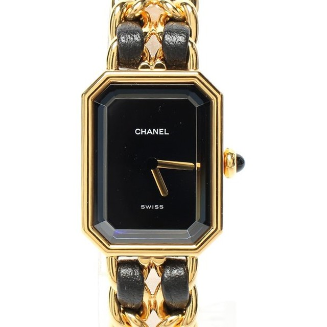 cheaper 51fc4 b3b90 シャネル 腕時計 プルミエールM クォーツ ブラック 483011002 ...