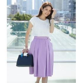 【any SiS:ワンピース】【CanCamコラボ】シャーリングブラウス×スカート ツインセット
