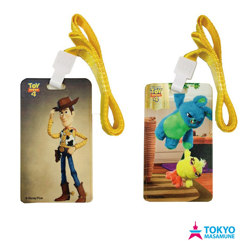 Disney【玩具總動員系列 滑蓋頸掛票卡夾】正版授權 悠遊卡 工作證 票夾 附頸掛繩