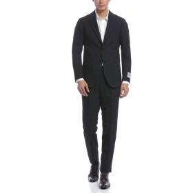 【66%OFF】Classic Model チェック ノッチドラペル スーツ ネイビー 46