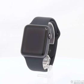 〔中古〕Apple(アップル) Apple Watch Series 3 GPS 42mm スペースグレイアルミニウムケース ブラックスポーツバンド〔07/12(金)新入荷〕