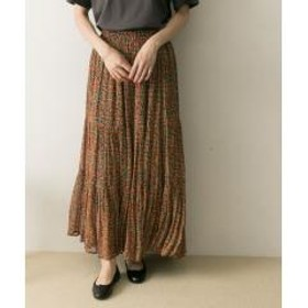 ne Quittez pas RAYON FLOWER LONG SKIRT【お取り寄せ商品】