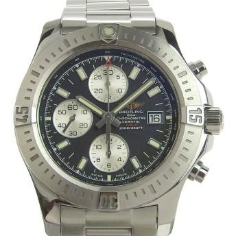 B楽市本店 本物 BREITLING ブライトリング コルト クロノ メンズ オートマ 腕時計 黒文字盤 A13388