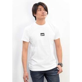 [リー] BOX LOGO Tシャツ ボックスロゴ半袖Tシャツ LT2550 メンズ M ホワイト×ブラック(218)