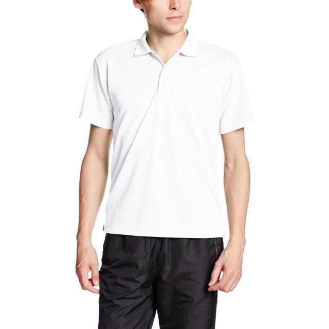 [グリマー] 半袖 4.4オンス ドライ ポロシャツ [UV カット] 00302-ADP_K キッズ ホワイト 150cm (日本サイズ150相当)