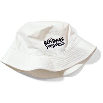 BEN DAVIS ハット ベンデイビス バケットハット ベンデービス BUCKET HAT (フリーサイズ(男女兼用), ホワイト)