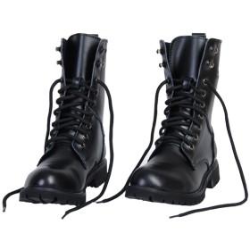 MIAOW 本革 マーティンブーツ メンズ 軍靴 ワークブーツ エンジニアブーツ シューズ 防水 防滑 防寒 ブラック
