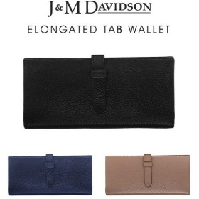 『J&M Davidson-ジェイアンドエムデヴィッドソン-』ELONGATED TAB WALLET〔10072/7266〕[長財布 ベルト開閉 カード入れ 小銭入れ有り レディース メンズ]