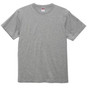(ティーエヌケーカンパニー)Tnk&Co. メンズ Tシャツ 半袖 丸首 厚手 6.0オンス バインダーネック #A563 (ヘザーグレー, M)