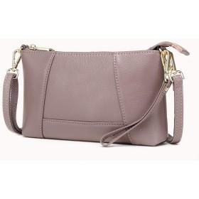 [メガダス] ショルダーバッグ 本革 斜めがけ クラッチバッグ ポシェット 2way レディース 女性財布 (ピンク)