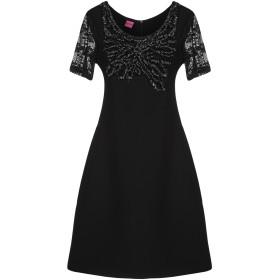《期間限定セール開催中!》SAVE THE QUEEN レディース ミニワンピース&ドレス ブラック XS ポリエステル 88% / ポリウレタン 12%