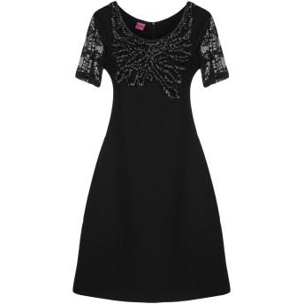 《セール開催中》SAVE THE QUEEN レディース ミニワンピース&ドレス ブラック XS ポリエステル 88% / ポリウレタン 12%