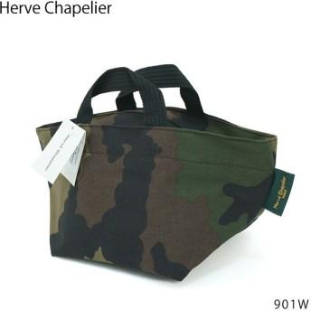 『Herve Chapelier-エルベシャプリエ-』Camouflage-舟型トートバッグ-[901W 49:Camouflage][ナイロン舟型トート S カモフラージュ 迷彩]