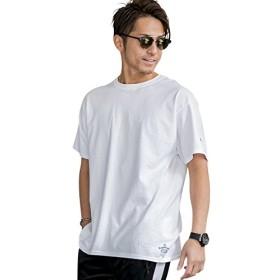 (アドミックス アトリエサブメン) ADMIX ATELIER SAB MEN メンズ Tシャツ 半袖ファッションmodelコラボ ChampionTシャツ (マサトシさん) 02-66-9501 48(M) ホワイト(01)
