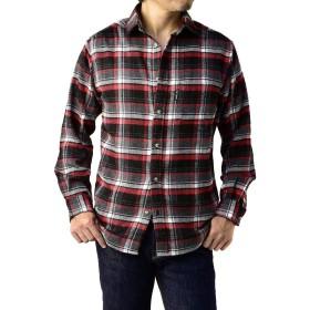 (FIRST DOWN) ファーストダウン ネルシャツ メンズ 長袖 チェックシャツ 厚手 秋冬 ボタンダウン レギュラー / B8L / LL 1-10・チェックD