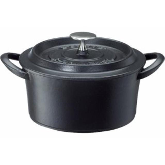 鋳物ホーロー両手鍋 ボンボネールココット 18cm ブラック 3619(1コ入)[鍋]【送料無料】
